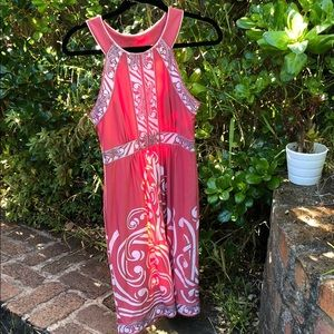 BCBG Max Azria coral printed dress sz 0